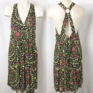 Banana Republic floral surplice dress Large
